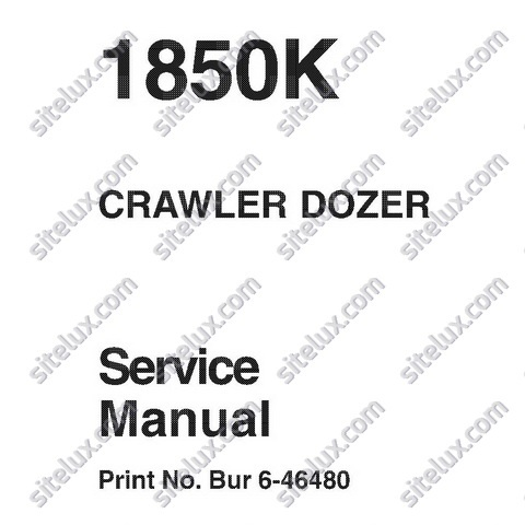 Case 1850K Crawler Dozer Service Manual