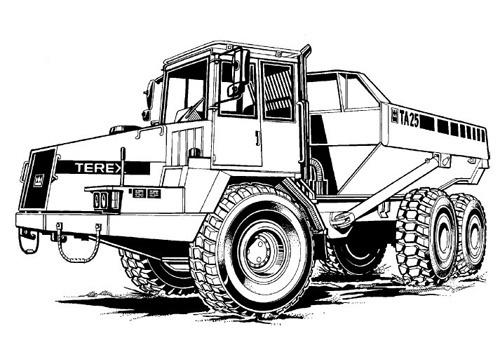 Terex TA25 & TA27 Articulated Dumptruck Service Repair Manual