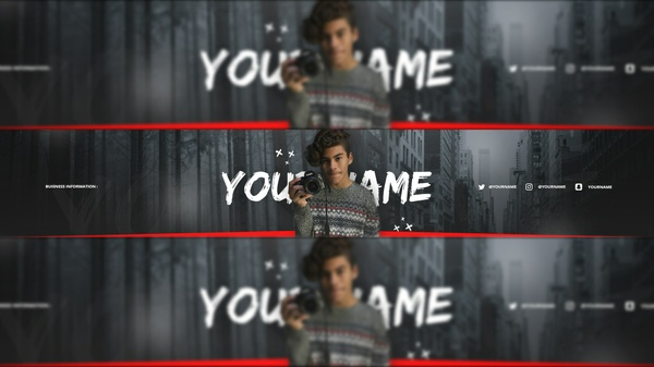 A Vloggers YouTube Banner Template