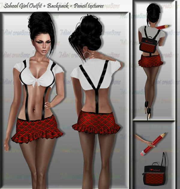 School Girl Texture Set Full Pack IMVU TEX