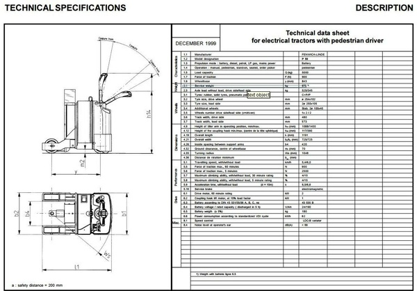 Linde Electrical Tractor Type 141: P50 Operating Instructions (User Manual)