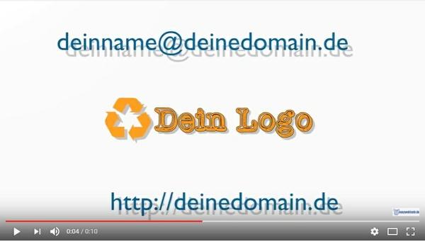 """Video Logo Intro """"Buc""""h mit Deinem Logo"""