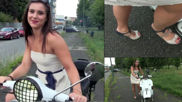 200 : Miss Iris meets the Vespa : Pedalstart and revving