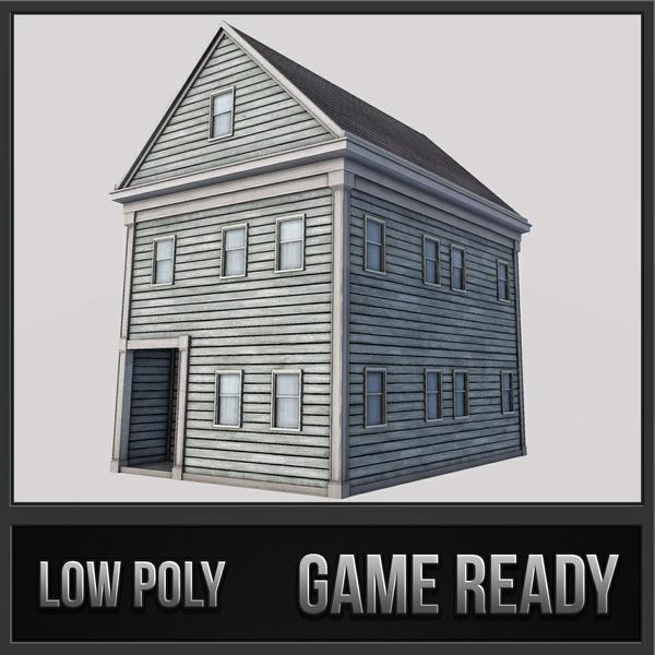 Boston House 01 | 3D Low Poly Model