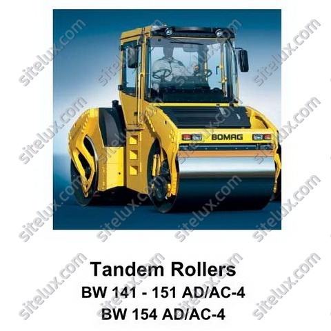 Bomag BW 141-151 AD/AC-4, BW 154 AD/AC-4 Tandem Rollers Service Training