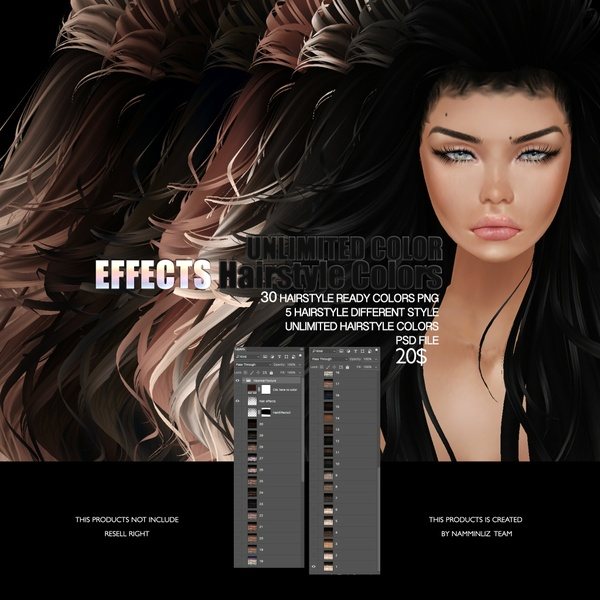 30 EFFECTS HAIRSTYLE TEXTURE imvu • Unlimited colors
