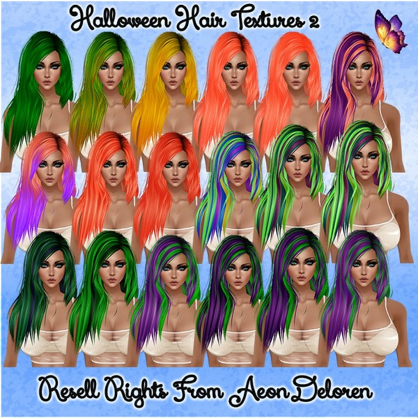 Halloween Hair Textures 2 Catty Only!!!