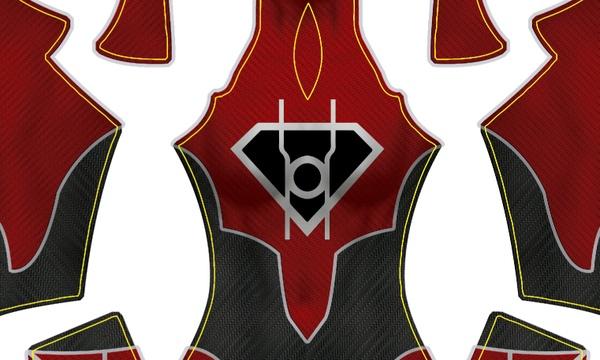 (CUSTOM) Red Lantern Supergirl pattern