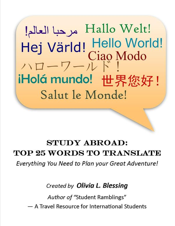 Study Abroad: Top 25 Words to Translate