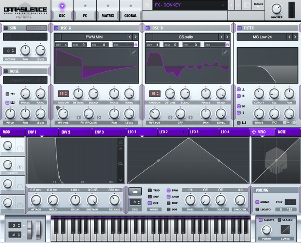 Dark Silence Sound Design ALPHA V1 PURPLE XFER SERUM SKIN