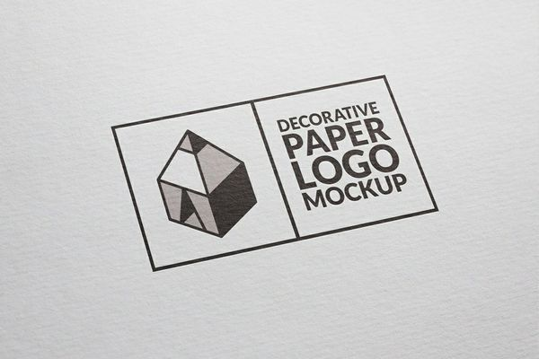 Decorative Paper Logo Mockup