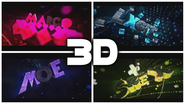3D Text Intro 1080p60FPS