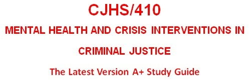 CJHS410 Week 4 Program Report