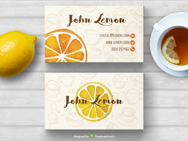 Tea business card template
