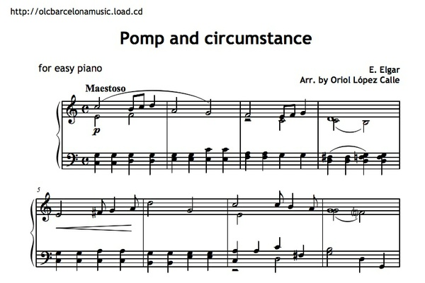 Pomp and Circumstance Sheet music (.pdf)