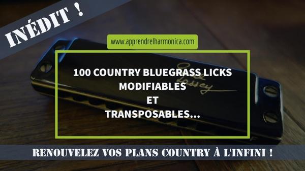 100 Country - Bluegrass Licks - Harmonica C - 2017