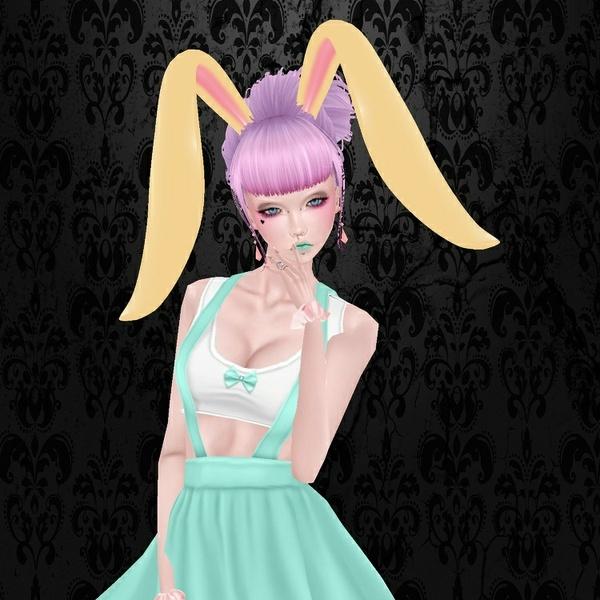 Cute Bunny Ears / PSD & PNG.