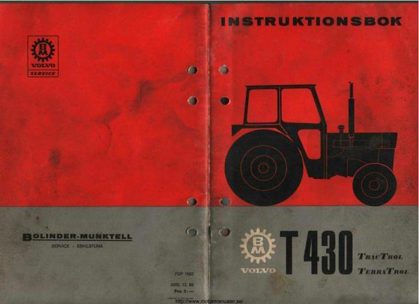 Volvo BM T430 instruktionsbok - 54 sidor - svenska
