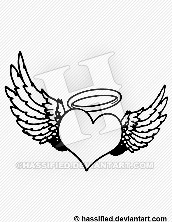 Heart Angel - printable, vector, svg, art