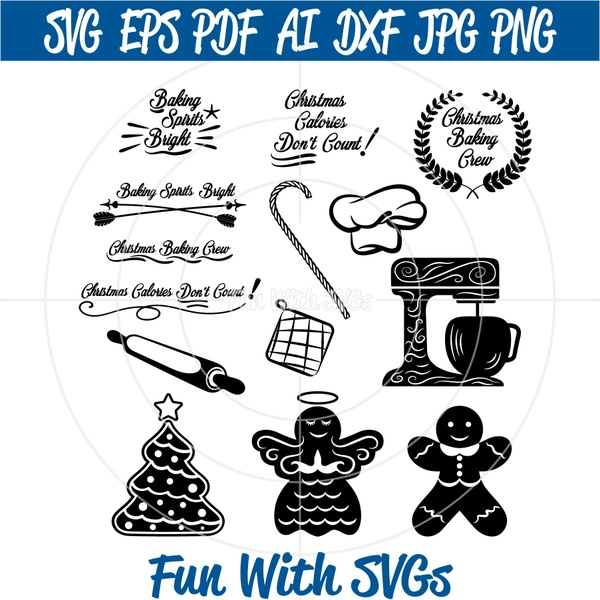 Christmas Baking SVG File Set