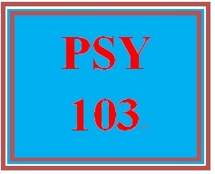 PSY 103 Week 5 Influences on Behavior and Psychological Disorders Presentation