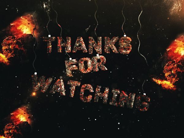 Thanks For Watching 3D Image for Video Outro | Free