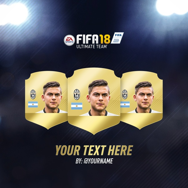 FIFA 18 Instagram Template Free