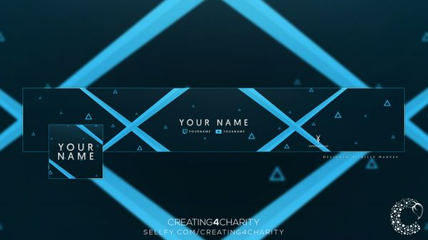 """Abstract Triangle"" YouTube Banner & Avatar"