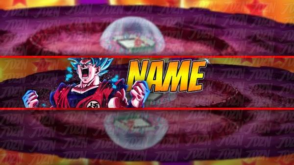 *NEW* Epic SSB Kaioken Goku Themed YouTube Banner