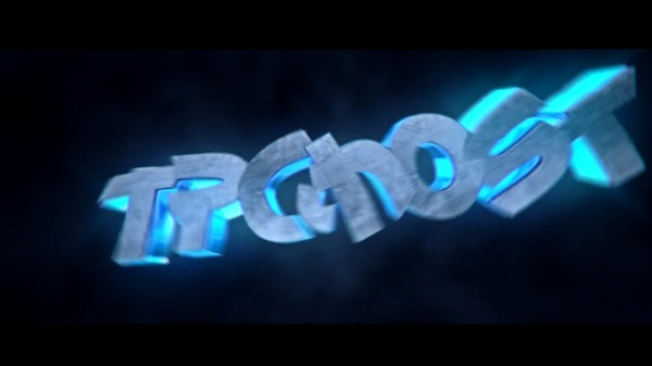 3D text intro