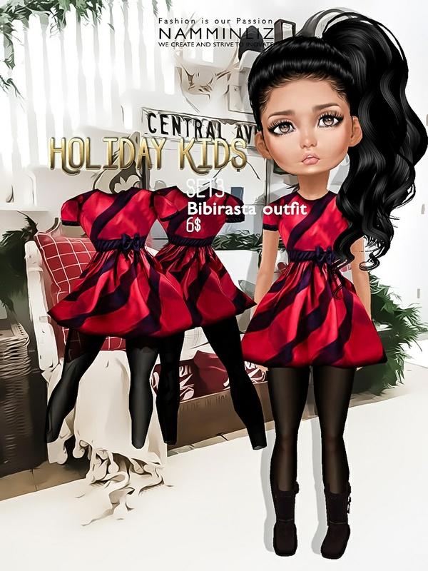 Holiday Kids Set3 imvu texture JPG bibirasta outfit NAMMINLIZ filesale