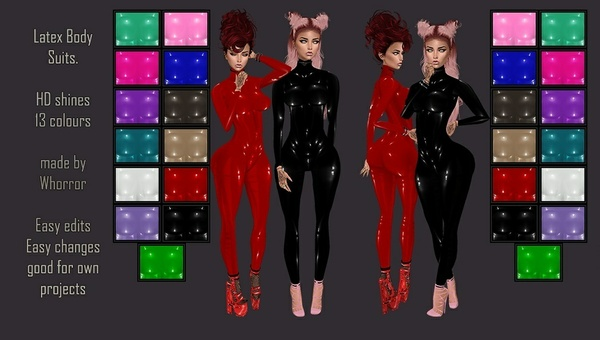 Premade Latex Bodysuits Textures Catty Only!!!