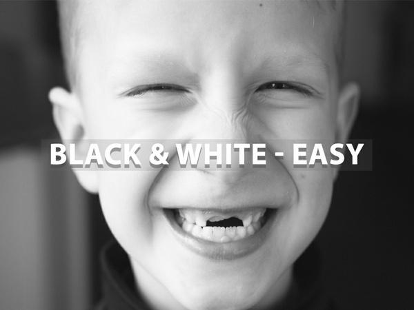 """""""Black & White - Easy"""" - Lightroom Preset"""