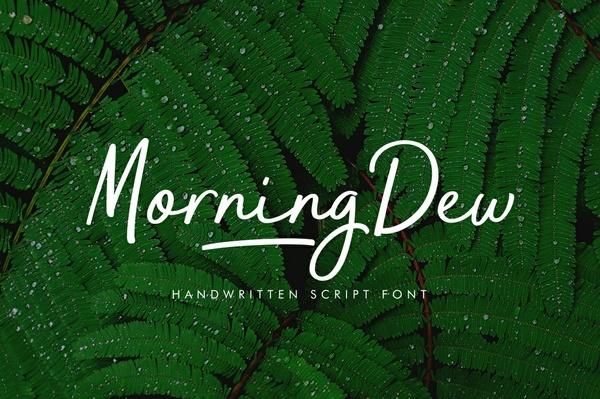 MorningDew Font
