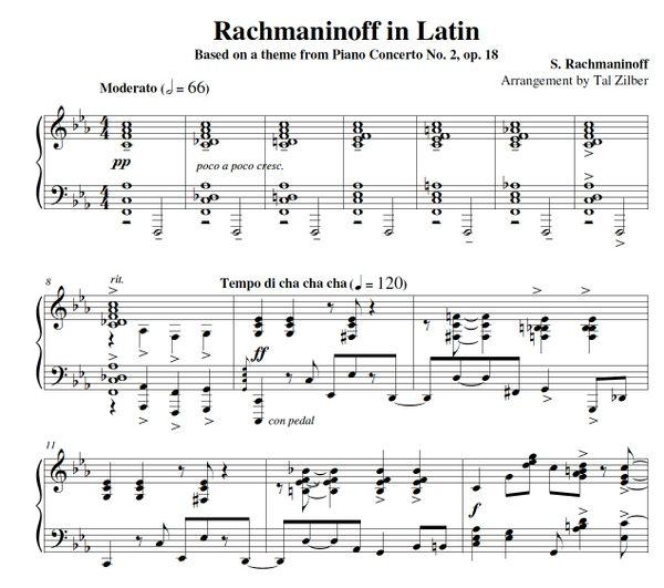 Rachmaninoff in Latin