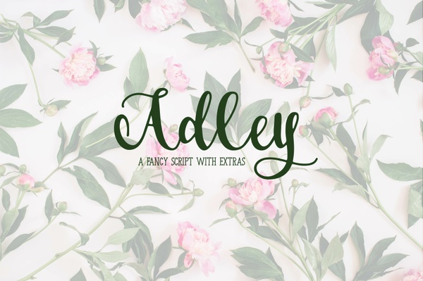 Adley - A Fancy Script