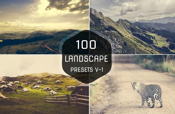100 Premium Landscape Lightroom Presets V-1