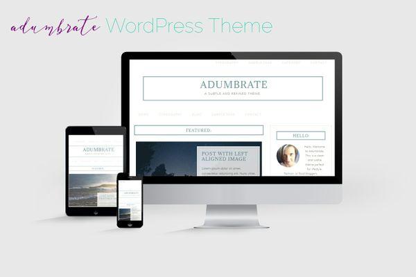 Adumbrate WordPress Theme