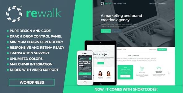 ReWalk - Business WordPress Theme | Download