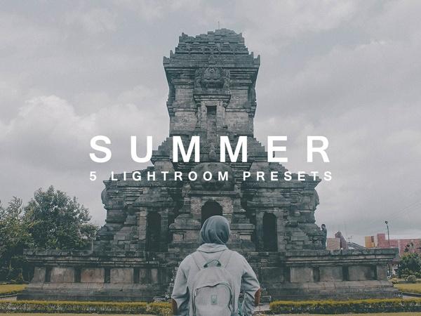 SUMMER - 5 LIGHTROOM PRESETS