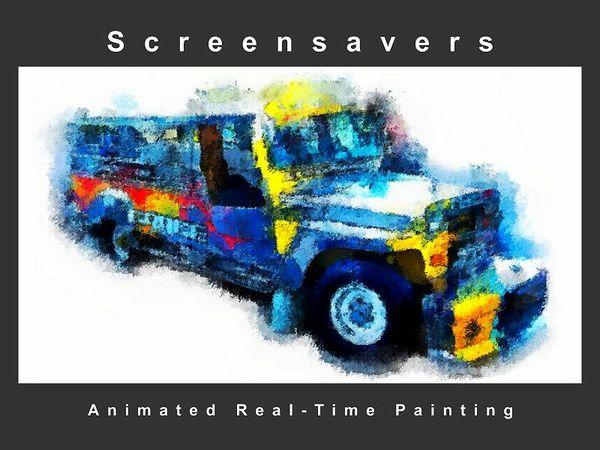 """ Jeepney "" Screensaver ( Animated Artwork )"