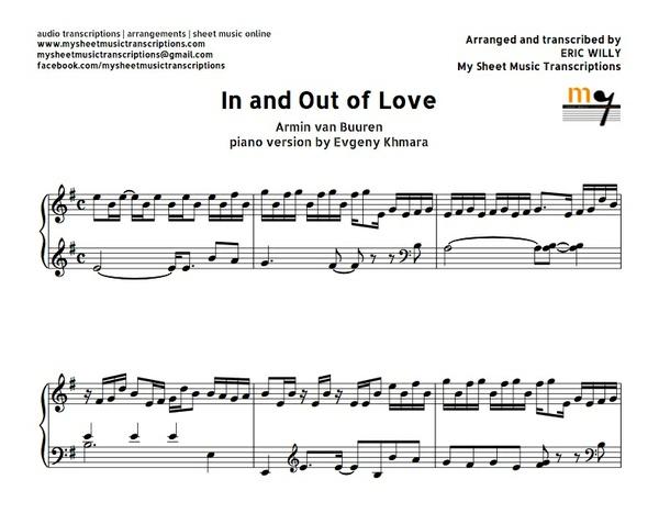 In and Out of Love (van Buuren) Sheet music (.pdf)