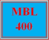 MBL 400 Week 5 Individual: Research
