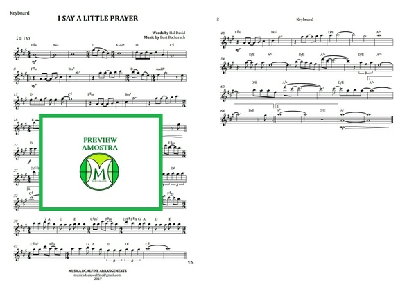 I Say a Little Prayer | Aretha Franklin | Keyboard or Violin | Score Download
