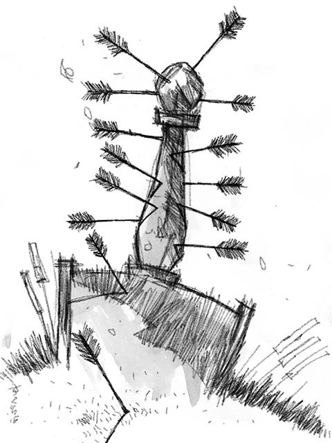 Gavel with Arrows