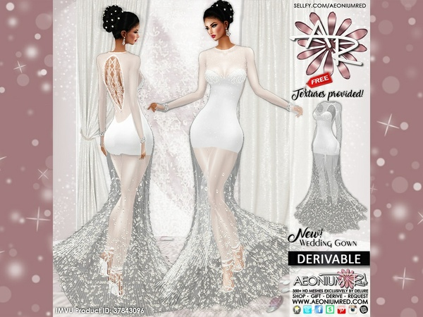 Imvu Freebie: Drv Angel Wedding Gown Textures