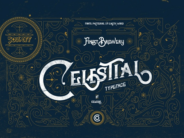 Celestial Vintage Typeface