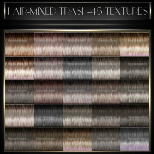 A~HAIR-MIXED TRASH COLORS-45TEXTURES&10 BABYHAIR COLORS