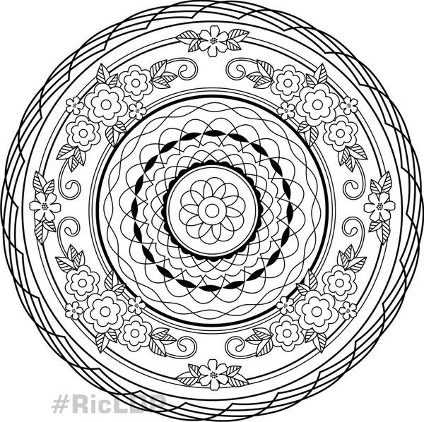 2 Page Coloring Mandalas