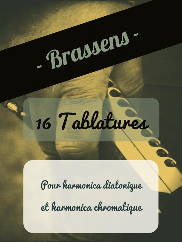 Georges Brassens - 16 tablatures pour harmonica diatonique et chromatique
